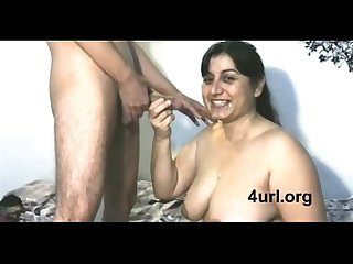 Desi NRI cute Mom sucking neighbour boy's dick