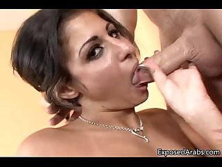 Horny Arabian girl gets